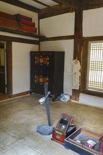 朝鲜时代传统韩屋起居室内景