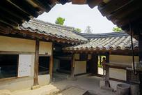 朝鲜时代传统韩屋庭院天井