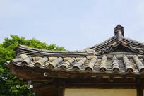 朝鲜时代传统民居瓦顶及飞檐