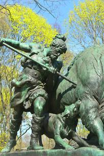 大蒂尔加滕公园普鲁士皇家狩猎雕塑