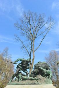 蒂尔加藤公园普鲁士皇家狩猎雕塑