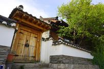 韩国北村韩屋村庭院门楼