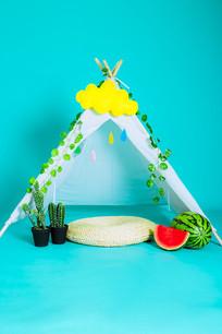 儿童影楼摄影背景小帐篷