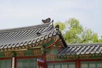 韩国景福宫屋顶及屋檐特
