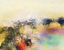 现代意境山水抽象画