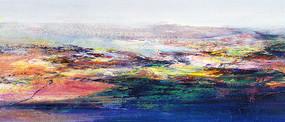 写意山水风景抽象画