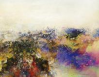写意意境山水风景抽象画