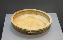 战国早期原始青瓷平口平底盘