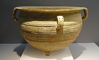 战国早期原始青瓷三足缶