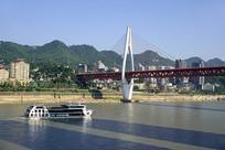 重庆地标性建筑东水门大桥