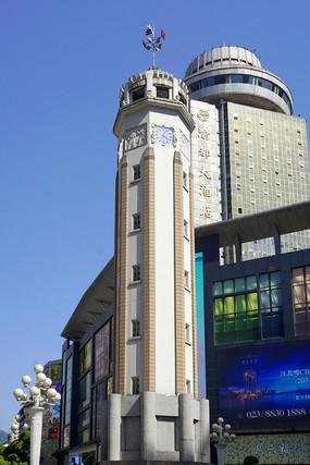 重庆人民解放纪念碑特写