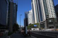 仰望北京高楼大厦