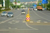 城市交通设施及道路特写
