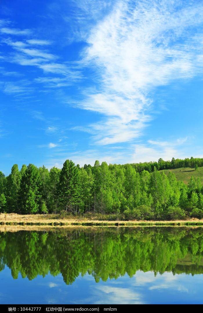 大兴安岭湖光山色 图片