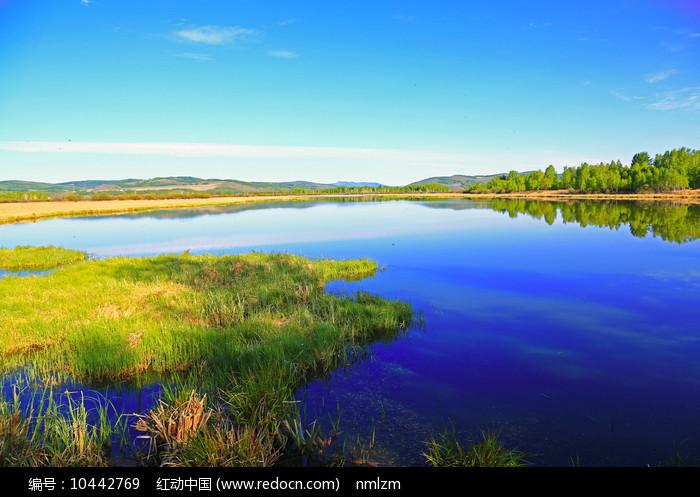 大兴安岭森林湖风光图片