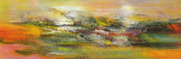 横幅抽象油画