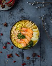 泰式咖喱鲜虾粉