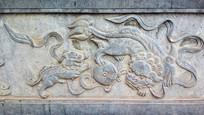 母子石狮子雕刻