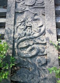 盘龙石雕寺院装饰