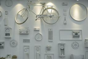 20世纪老物件古董家具文化墙