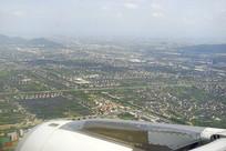 鸟瞰杭州萧山区城市风光