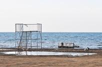 青海湖湖畔美景