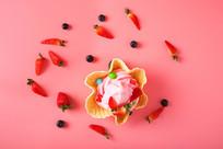 草莓可可冰淇淋