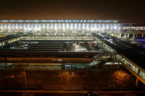 上海浦东机场夜景