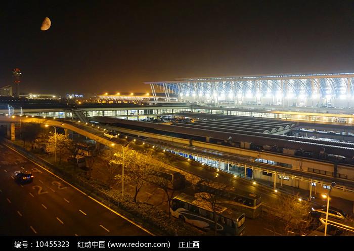 上海浦东机场夜景及灯光照明图片