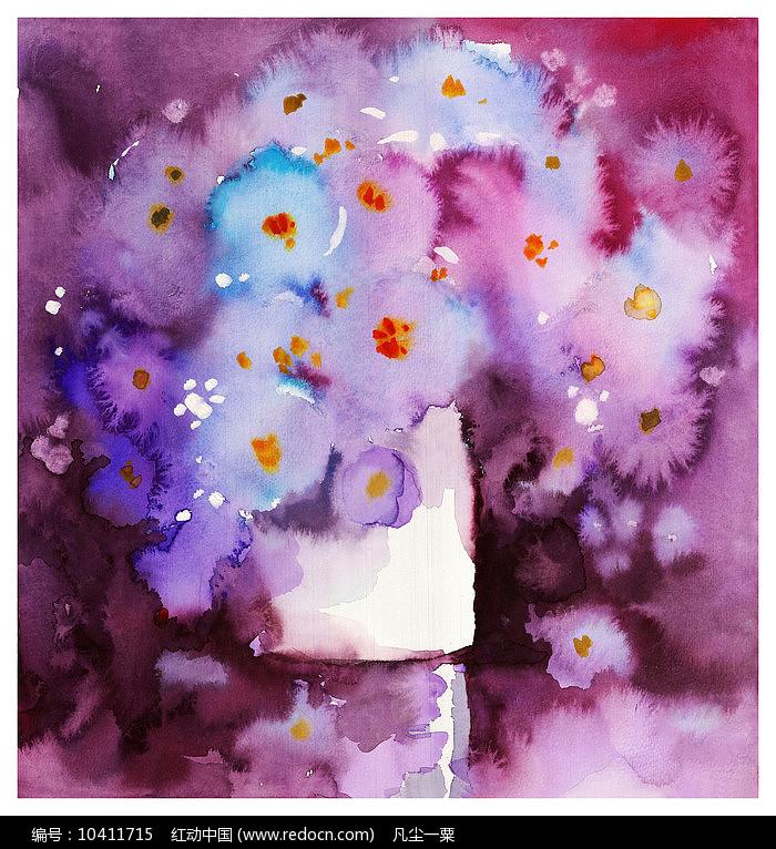 水彩花卉画图片