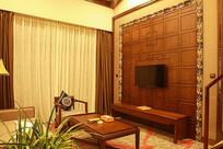 酒店会客厅中式装修