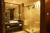 酒店卫浴中式装修洗手台
