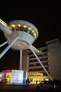 浦东机场宾馆及空中酒吧夜景