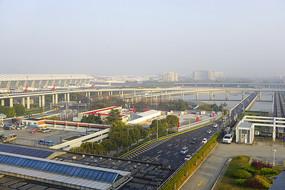 上海市浦东新区浦东机场的早晨