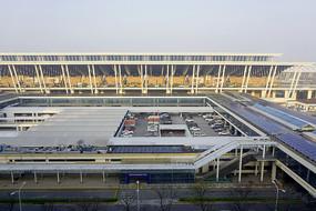 早晨的上海浦东机场