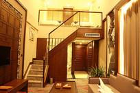 中式装修酒店复式楼