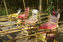 湖南张家界天子山的滑竿抬椅
