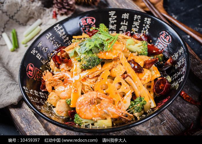 豉香鲜椒香锅图片