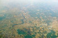 航拍山东临沂沂河和白马河
