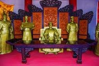 赫图阿拉城汗宫大衙门汗王雕像