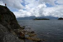 深圳南澳半岛大甲岛礁石和海景