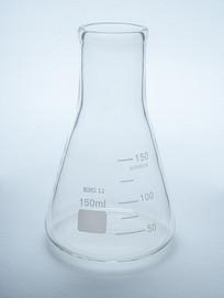 实验器材锥形瓶摄影图