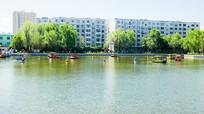 吉林市北山人工湖划船