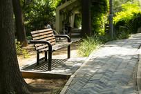 济南泉城公园长椅