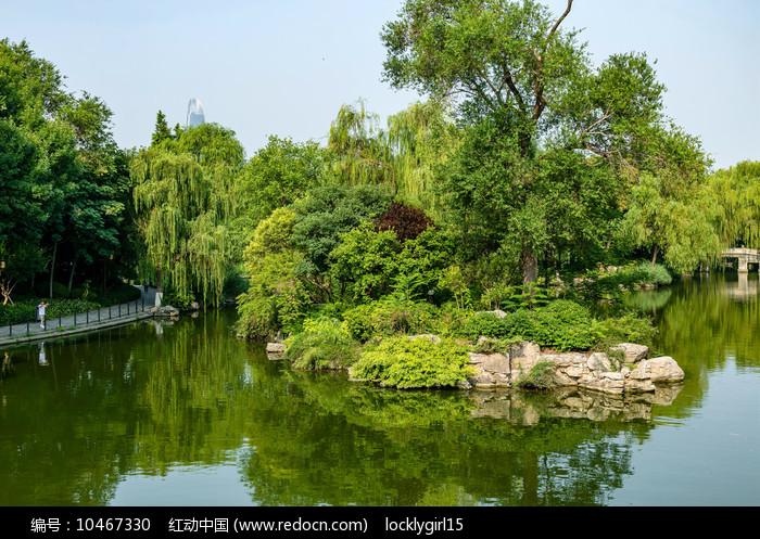 明湖风光图片