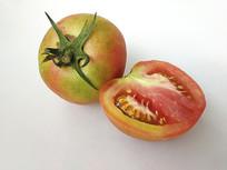 拍摄青红番茄