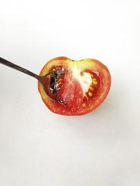 青红番茄剖面