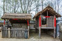 努尔哈赤故居院内木栏猪棚粮仓