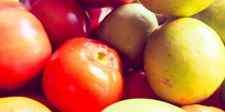水果盘特写
