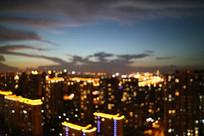 回忆中的苏州晚霞和楼宇